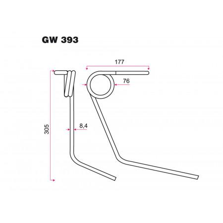 Dent de semoir KUHN GW 393