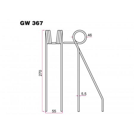 Dent de semoir SAXONIA  GW 367