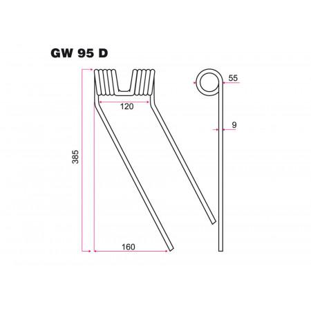 Dent faneur D CLASS GW 95