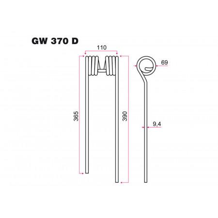 Dent faneur D KUHN GW 370