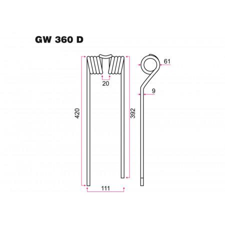 Dent faneur D ZWEEGERS GW 360