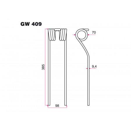 Dent faneur FELLA GW 409