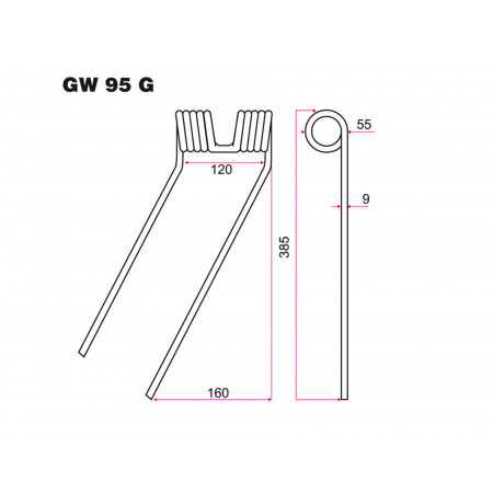 Dent faneur G CLASS GW 95