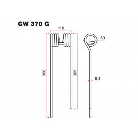 Dent faneur G KUHN GW 370