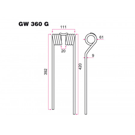 Dent faneur G ZWEEGERS GW 360