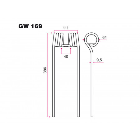 Dent faneur KUHN GW 169