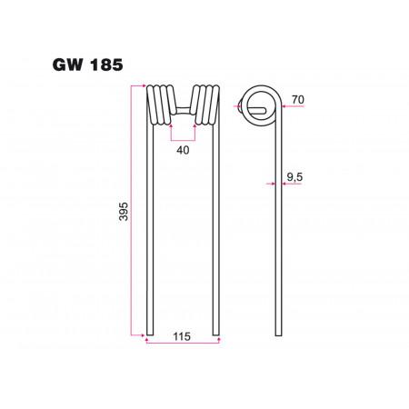 Dent faneur KUHN GW 185