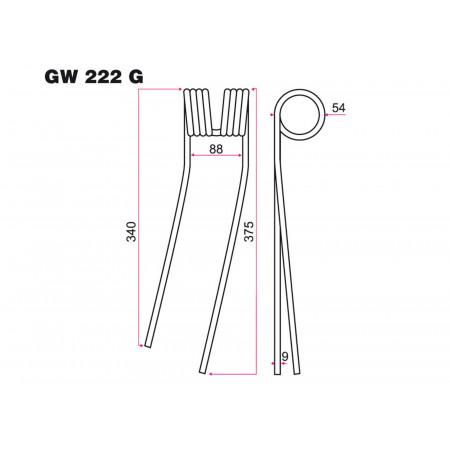 Dent fenaison G GALFRE GW 222