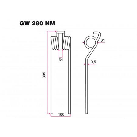 Dent fenaison GALFRE GW 280 N