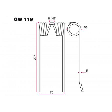Dent GW 119 pour pick-up CLASS