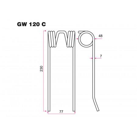 Dent GW 120C pour pick-up RIVIERE