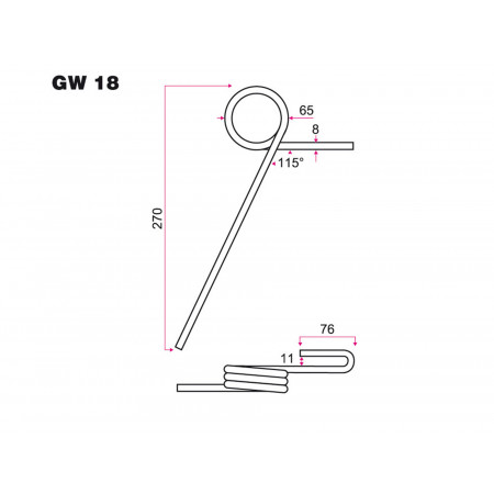 Dent semoir NODET GW 18