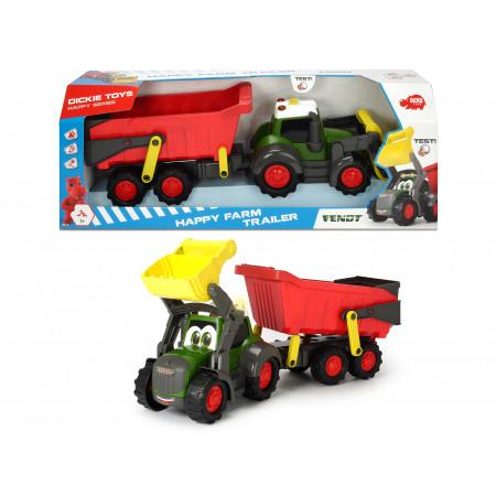 Tracteur Fendt avec remorque DICKIE