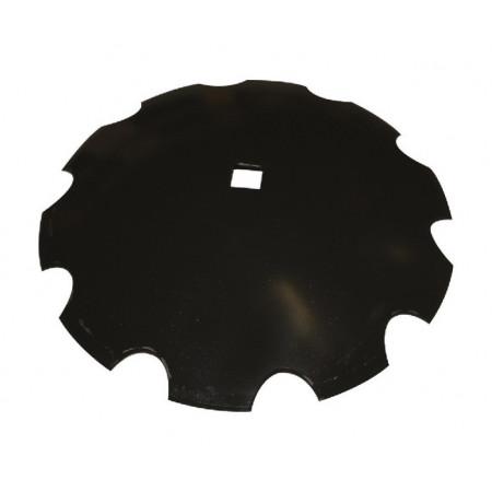 Disque crénelé 660x6mm 1 trou carre de 41mm NIAUX