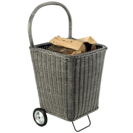 Chariot à bois Nomad gris