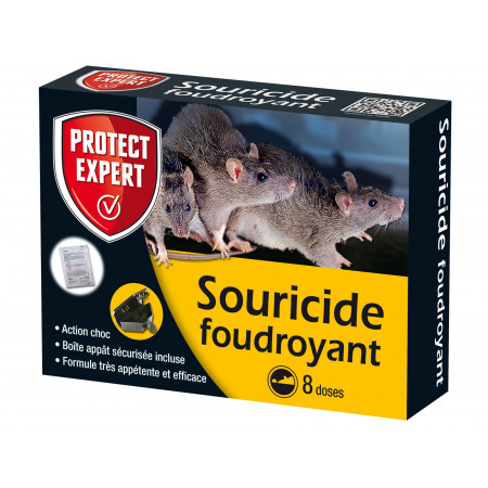 Doses raticide foudroyant 8x10g