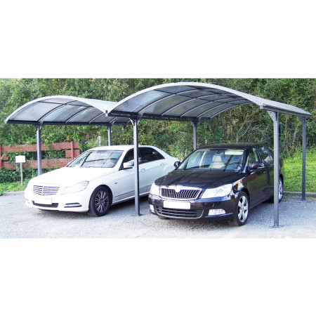 Double carport structure alu toit polycarbonate anti-UV
