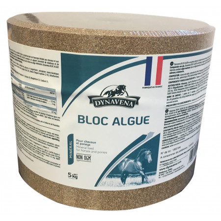 Aliment cheval Dynavena Bloc algues 5kg