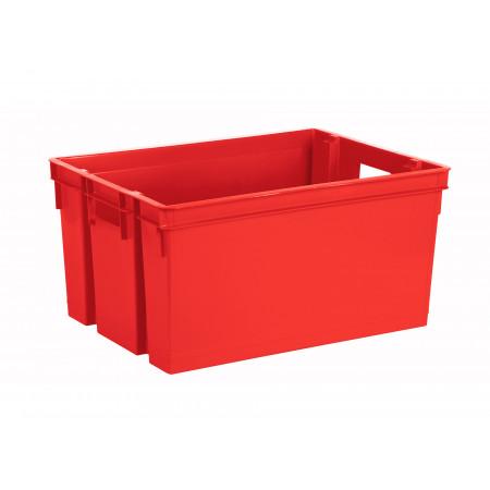 Bac de rangement 50L rouge