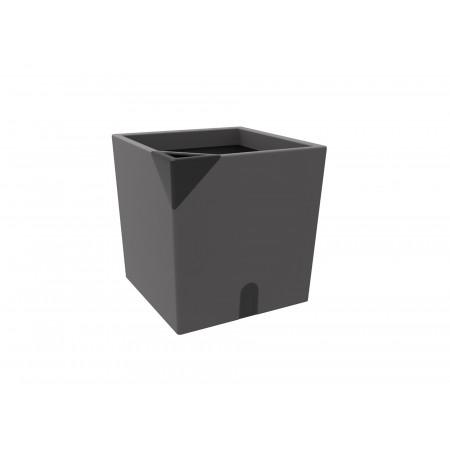 Pot carré Aqualight 35cm anthracite