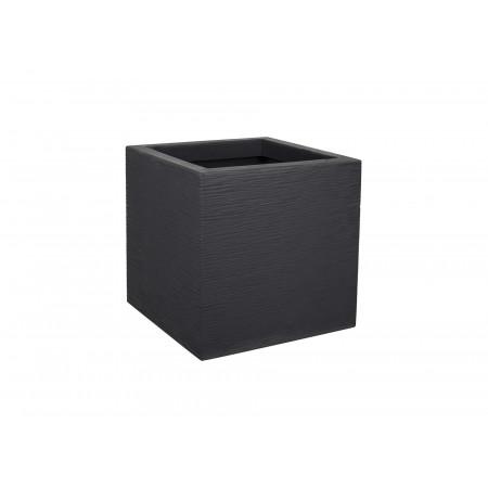 Pot carré EDA Graphit Up 30cm Anthracite