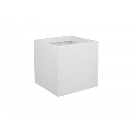 Pot carré EDA Graphit Up 30cm Blanc