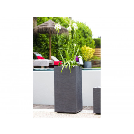 Pot carré haut EDA Graphit 39cm Anthracite