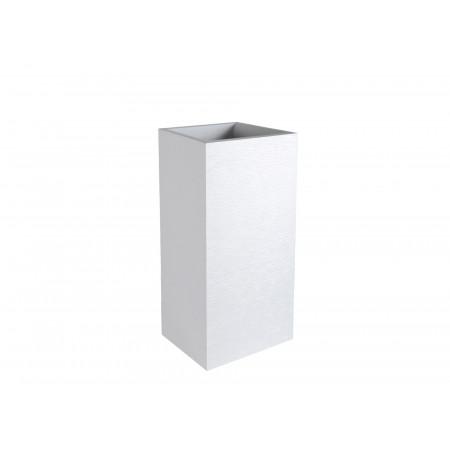Pot carré haut EDA Graphit 39cm Blanc