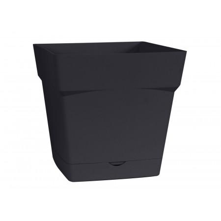 Pot EDA Toscane 17cm avec réserve d'eau Anthracite