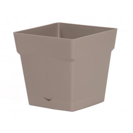 Pot EDA Toscane 17cm avec réserve d'eau Taupe