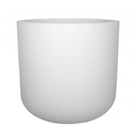 Pot rond 50cm Graphit'up blanc céruse