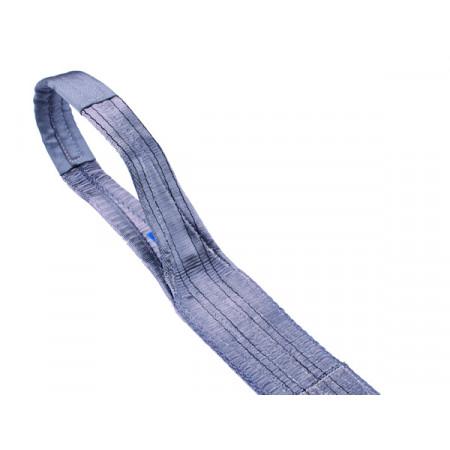 Elingue textile plate 120mm 4T gris / longueur 2M