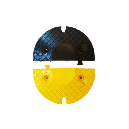 Embouts pour ralentisseur noir et jaune H.50mm x2