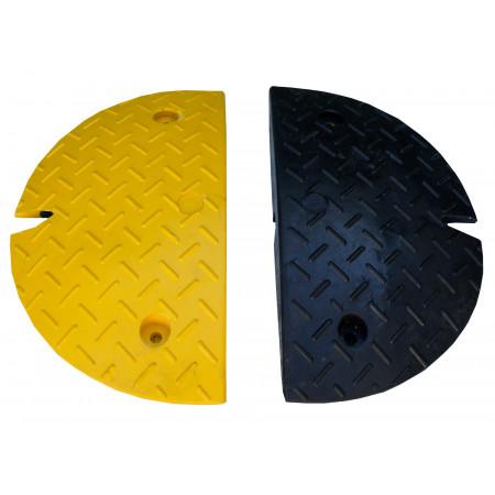 Embouts pour ralentisseurs noir/jaune H.60mm x2