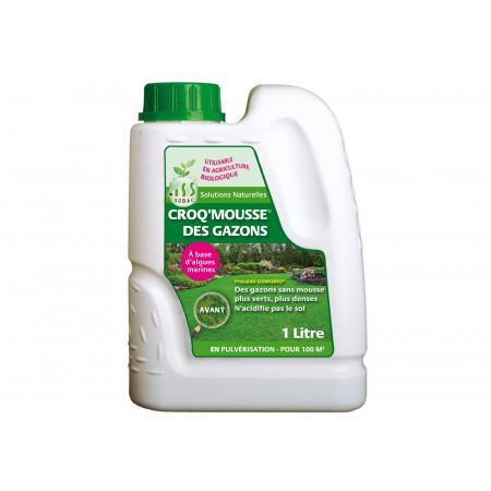 Engrais naturel Croq'Mousse des gazons 1L