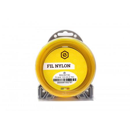 Fil nylon rond fluo Ø2 15m