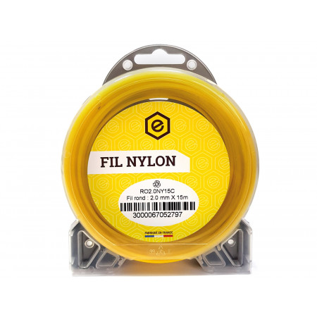 Fil nylon rond fluo Ø1,3 15m