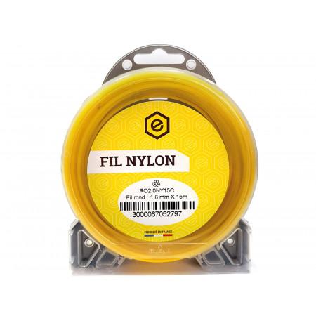 Fil nylon rond fluo Ø1,6 15m