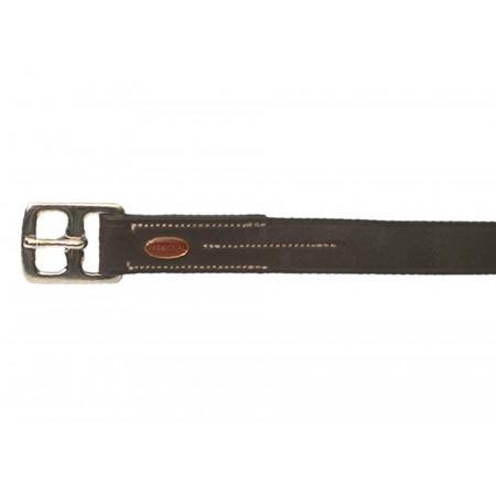 Etrivières cuir double noir 145cm