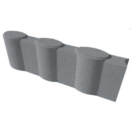 Bordure Olivette 50x16x6,5cm Gris ardoise