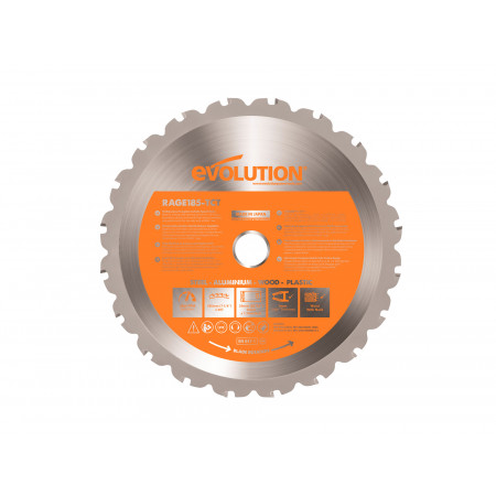Lame scie circulaire RAGE1 Ø185mm