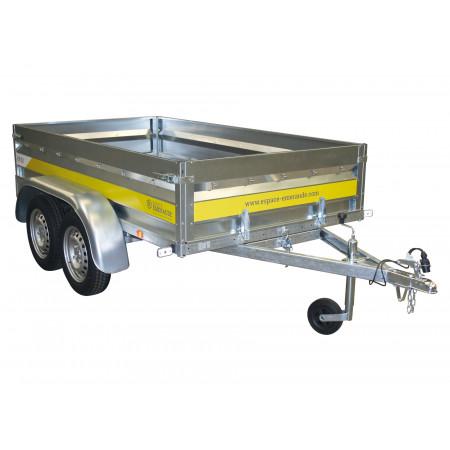 Remorque double essieu Espace Emeraude EM252 L.2,50m 500kg