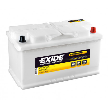 Batterie 12V EXIDE ET650 100Ah 600A +D