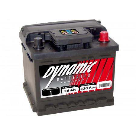 Batterie 12V N°1 EXIDE Dynamic 41Ah 370A