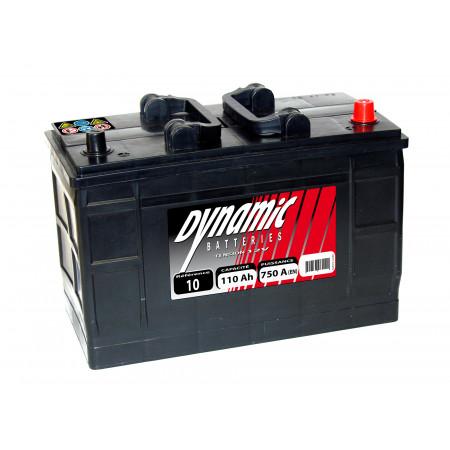Batterie 12V N°10 EXIDE Dynamic 110Ah 750A
