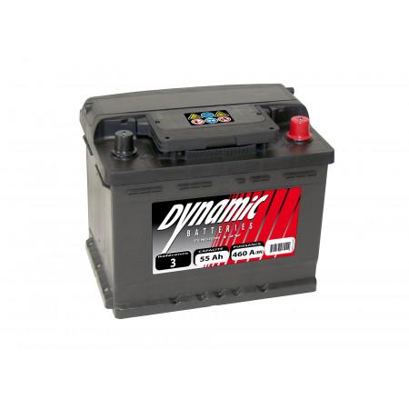 Batterie 12V N°15 EXIDE Dynamic 52Ah 500A