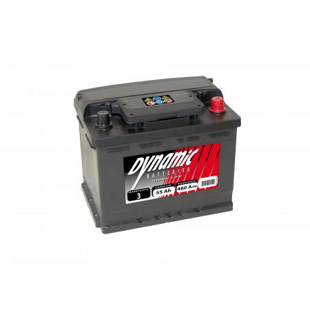 Batterie 12V N°3 EXIDE Dynamic 55Ah 460A