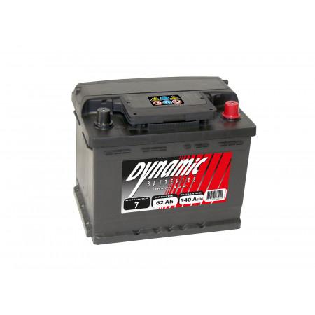 Batterie 12V N°7 EXIDE Dynamic 62Ah 540A