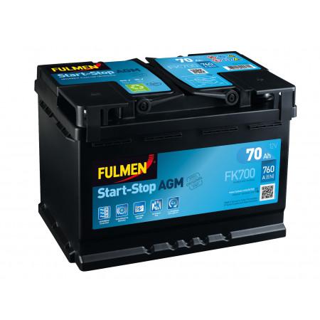 Batterie 12V Start Stop AGM EXIDE FK700 70Ah 760A +D