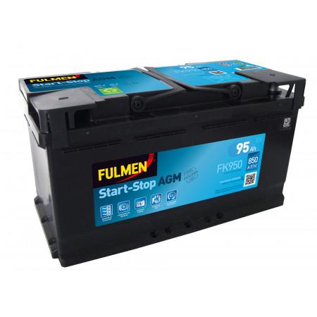 Batterie 12V Start Stop AGM EXIDE FK950 95Ah 850A +D